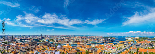Poster Scandinavie Copenhagen panorama