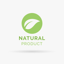 100% Natural Product Icon Design. 100% Natural Product Symbol Design. Natural Product Design Sign. Vector Illustration.