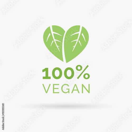 Fotografie, Obraz  100% vegan icon design