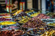 Olives Stall In Sarona Market,...