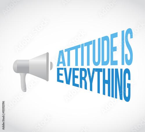 attitude is everything megaphone loudspeaker Fototapet