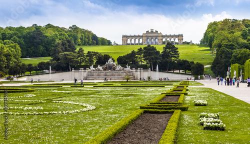 In de dag Wenen Wien Schloss Schönbrunn Gloriette