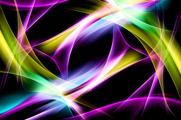 Colorful Light Wave Design Abstract Background