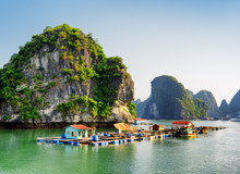 Floating Fishing Village In Th...