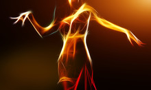 Oriental Belly Dancer In Light...