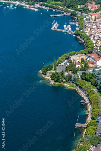 Beautiful coast of the lake Garda in Italy - Destination for vacation Fototapeta