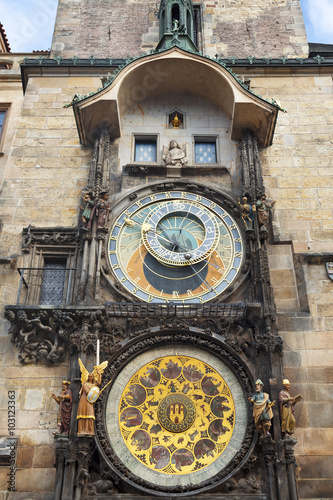 Foto op Canvas Praag The Astronomical Clock at Old City Hall at the Market Square in Prague, Czech Republc
