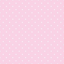 Tile Vector Pattern With White Polka Dots On Pastel Pink Background