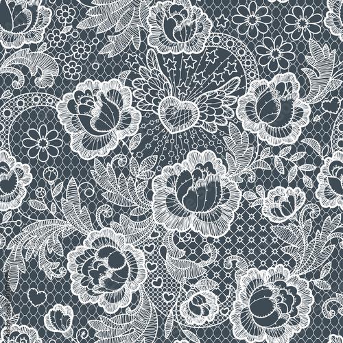 Fotografía  Roses Seamless Pattern