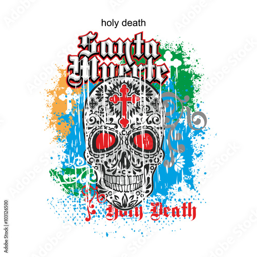 Printed kitchen splashbacks Gothic coat of arms with skull, grunge.vintage design t-shirts