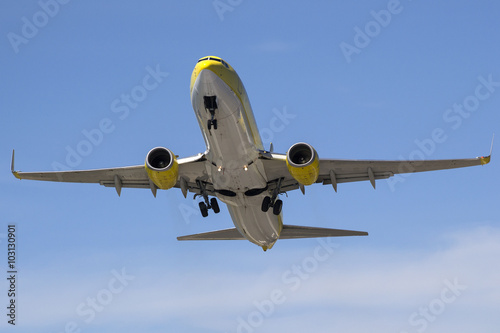 Poster  Boeing 737 departure - Corfu - Ioannis Kapodistrias airport