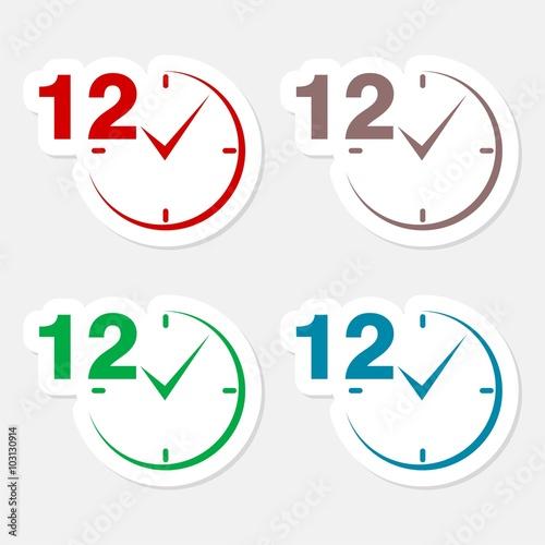 Fényképezés  12 hours circular icons set