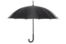 Open Black Umbrella Isolated O...