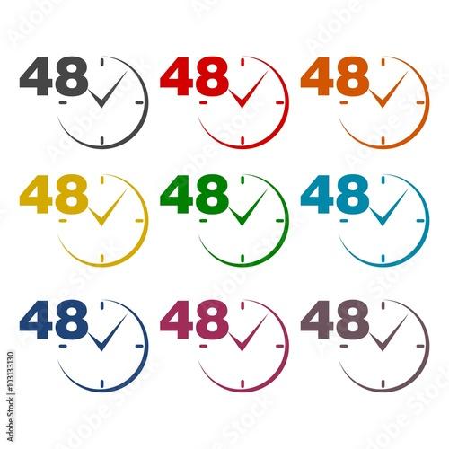 Fényképezés  48 hours circular icons set