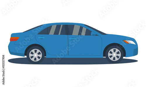 Cartoon voitures Isolated vector car. Vehicle icon. Flat design style