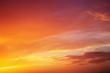 Leinwandbild Motiv Fiery orange colorful sunset sky. Beautiful sky.