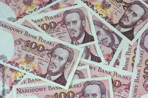 Fotografia old polish money background