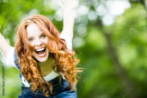 Fotomural woman in spring