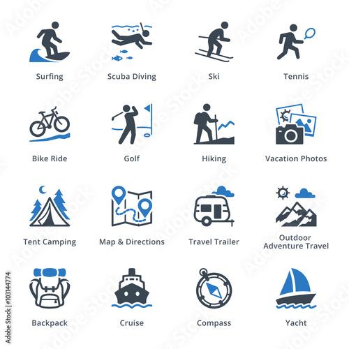 Fotografia  Tourism & Travel Icons Set 4 - Blue Series