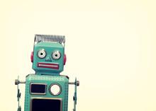 Vintage Robot Toy - Retro Style