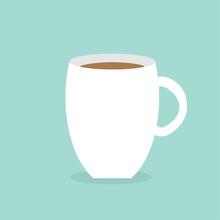 Big Coffee Cup Mug Blue Backgr...