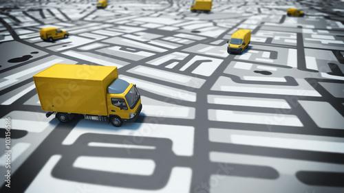 Obraz na płótnie Śledzenie GPS