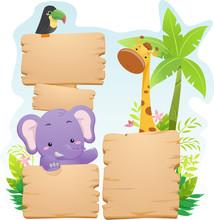 Colorful Jungle Animals Board