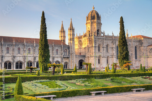 Beautiful image of the Hieronymites Monastery (Jeronimos), a UNESCO world heritage site, in Lisbon, Portugal. HDR
