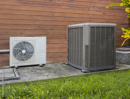 Fotografie, Obraz  Air conditioning heat pump