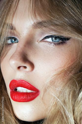 Valokuva  beautiful girl with red lips