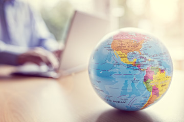 Fototapeta Global business and communications