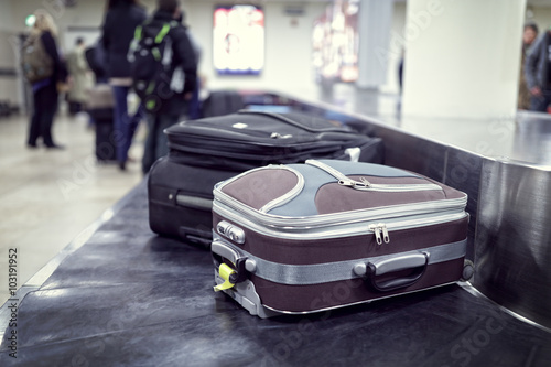 Aluminium Prints Airport Baggage claim at airport