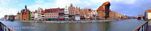 Obraz na płótnie Panorama Gdańska