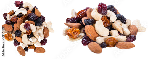 Cuadros en Lienzo Trail Mix isolated on white