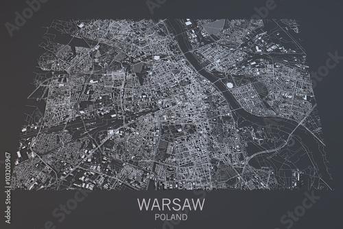 mapa-warszawy-widok-satelitarny-miasto-polska