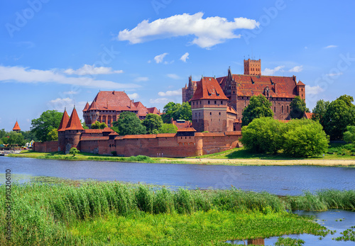 Fotografie, Obraz  The Castle of the prussian Teutonic Knights Order in Malbork, Po