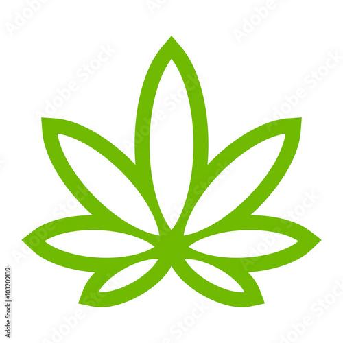 Marijuana Pot Weed Leaf Symbol Buy This Stock Vector And Explore