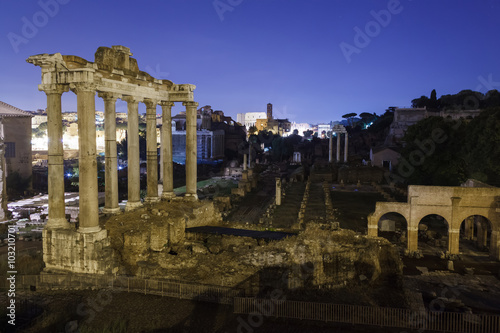 Ruins of the Greco-Roman city Canvas Print