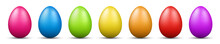 Colorful Easter Eggs Vector Gr...