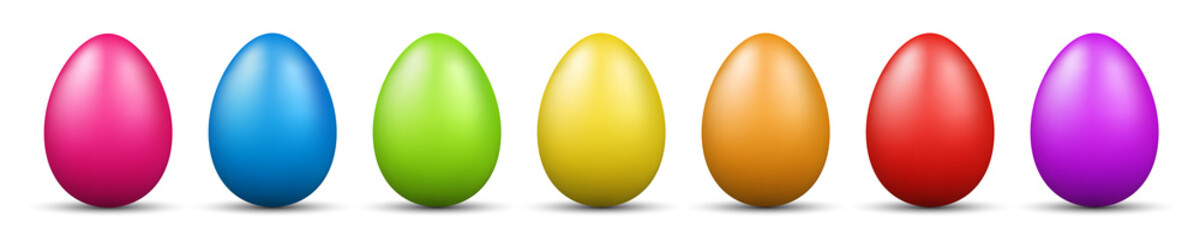 colorful easter eggs vector graphic