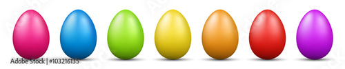 Photo  colorful easter eggs vector graphic