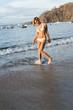 full portrait of young girl in bikini
