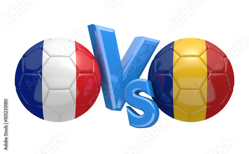 Photo  Euro 2016 football competition between national teams France and Romania