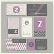 Set of coordinating business card designs with the letter z