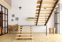 Modern Interior With Staircase...