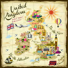 United Kingdom Travel Concept