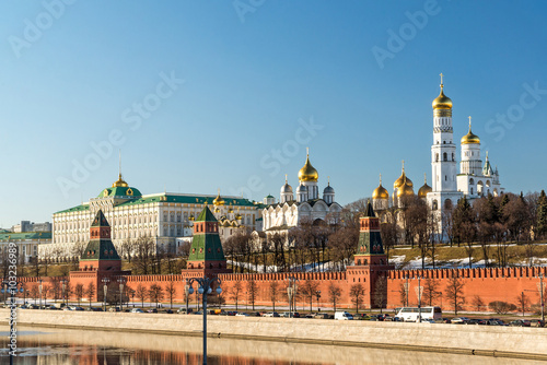 Staande foto Stockholm Panorama of Moscow Kremlin on sunny day, Russia