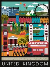 Eye-catching United Kingdom Travel Poster
