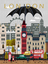 Eye-catching United Kingdom Travel Poster