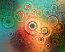 Abstract Fractal Design. Rings And Bubbles.